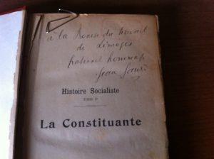 Jean Jaurès a dédicacé la Constituante à la Maison du Peuple de Limoges